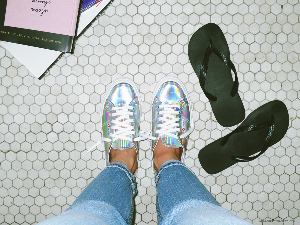 Wearing Iridescent Superga || Allegory of Vanity