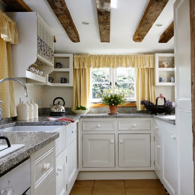 Country Style Small Kitchen Design