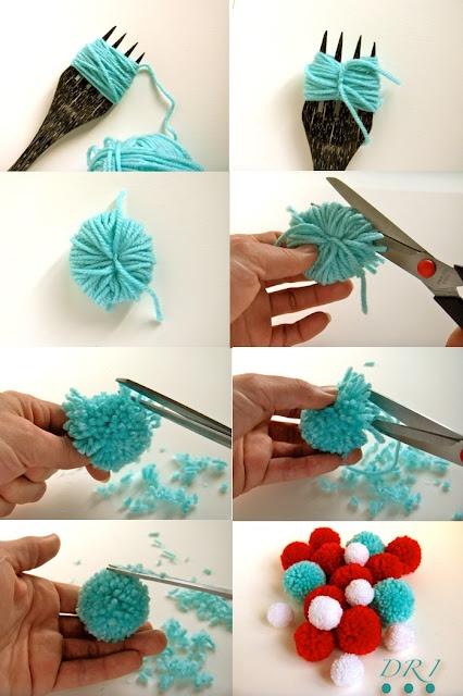 tricoter un pompon