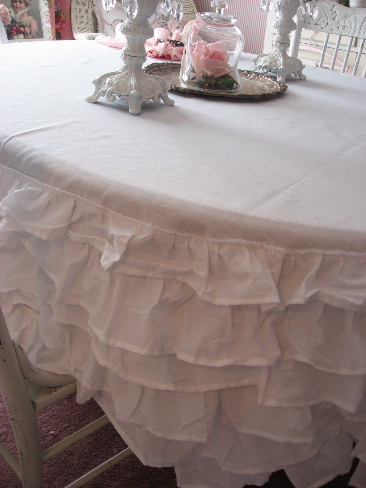 These Next Photos Are Just A Few More That I Took, While Taking Photos Of  The Tablecloth....my Dining Room Is My Favorite Room In The Whole House.