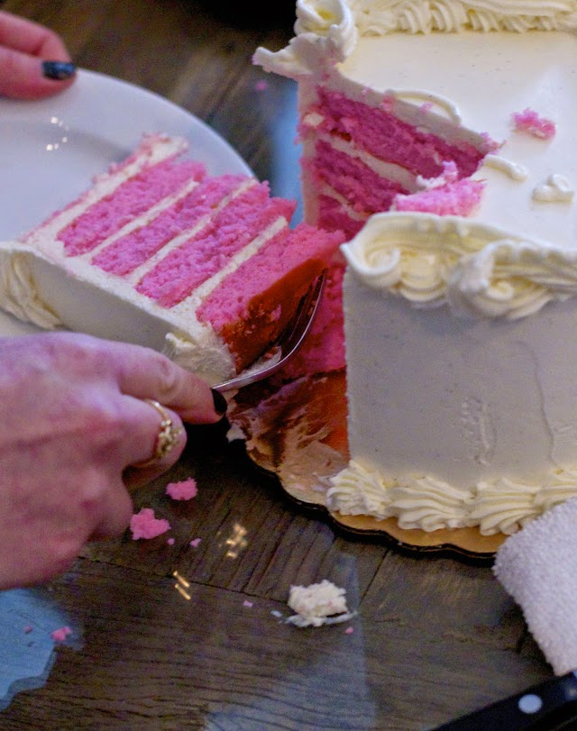 Gender Reveal with a cake