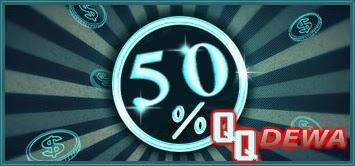 Bonus Tambahan 50%