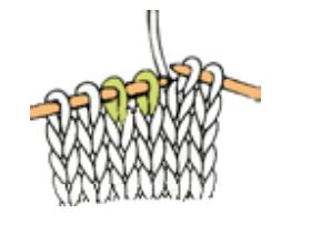 tricoter 2 mailles ensemble