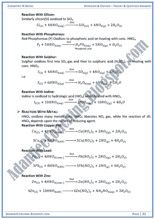 nitrogen-and-oxygen-theory-notes-and-question-answers-chemistry-ix