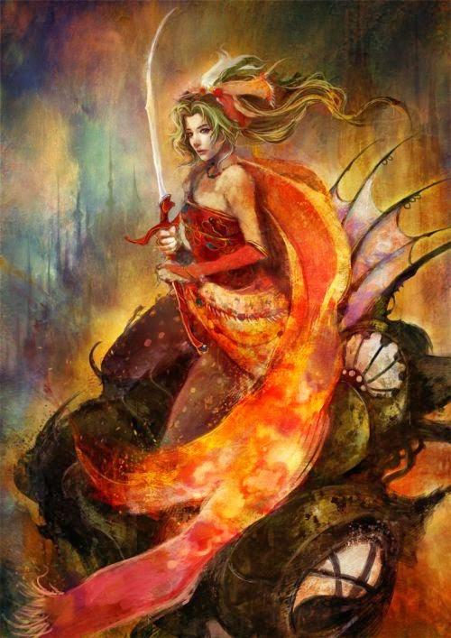 Pencil Mogwai Muju deviantart ilustrações mulheres fantasia ficção científica pinturas digitais