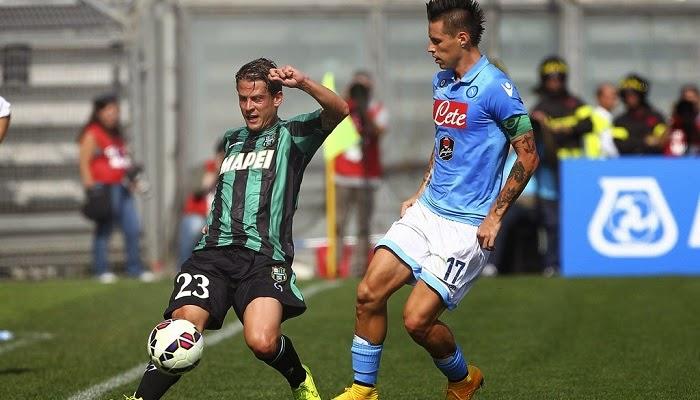 Napoli vs Sassuolo en vivo