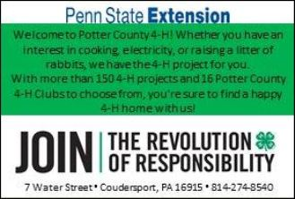 Sign Up For 4-H In Potter County