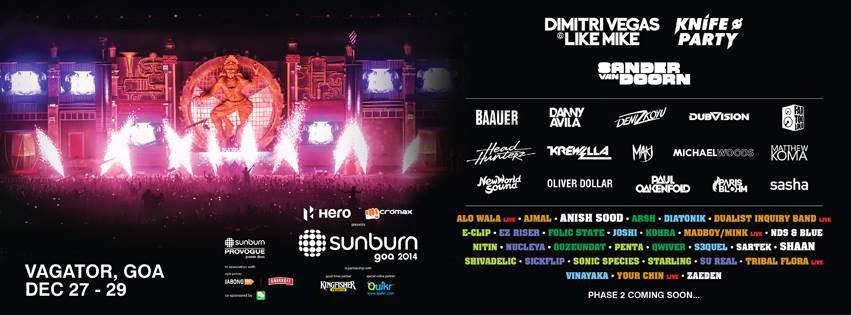 Knife Party, Dimitri Vegas & Like Mike and Sander Van Doorn announced for Sunburn Goa 2014