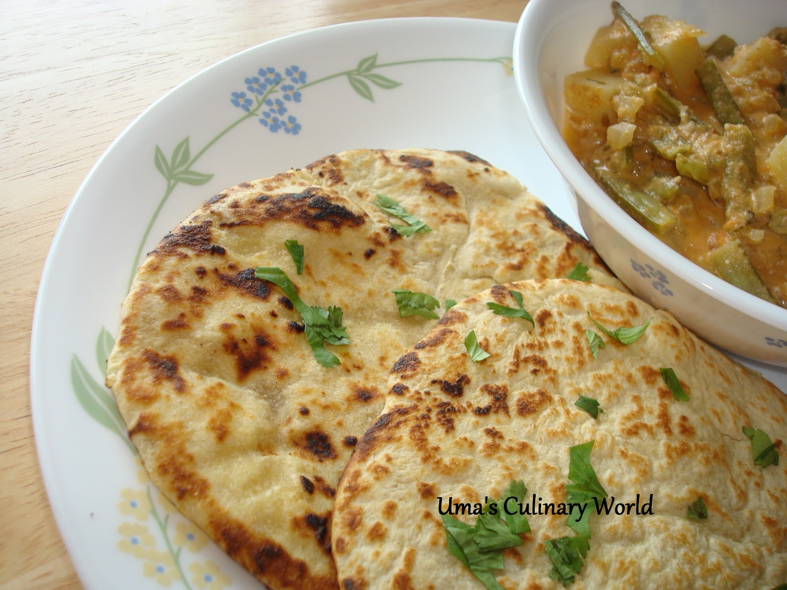 For our everyday meals, I cook Tawa Roti. A whole wheat flatbread ...