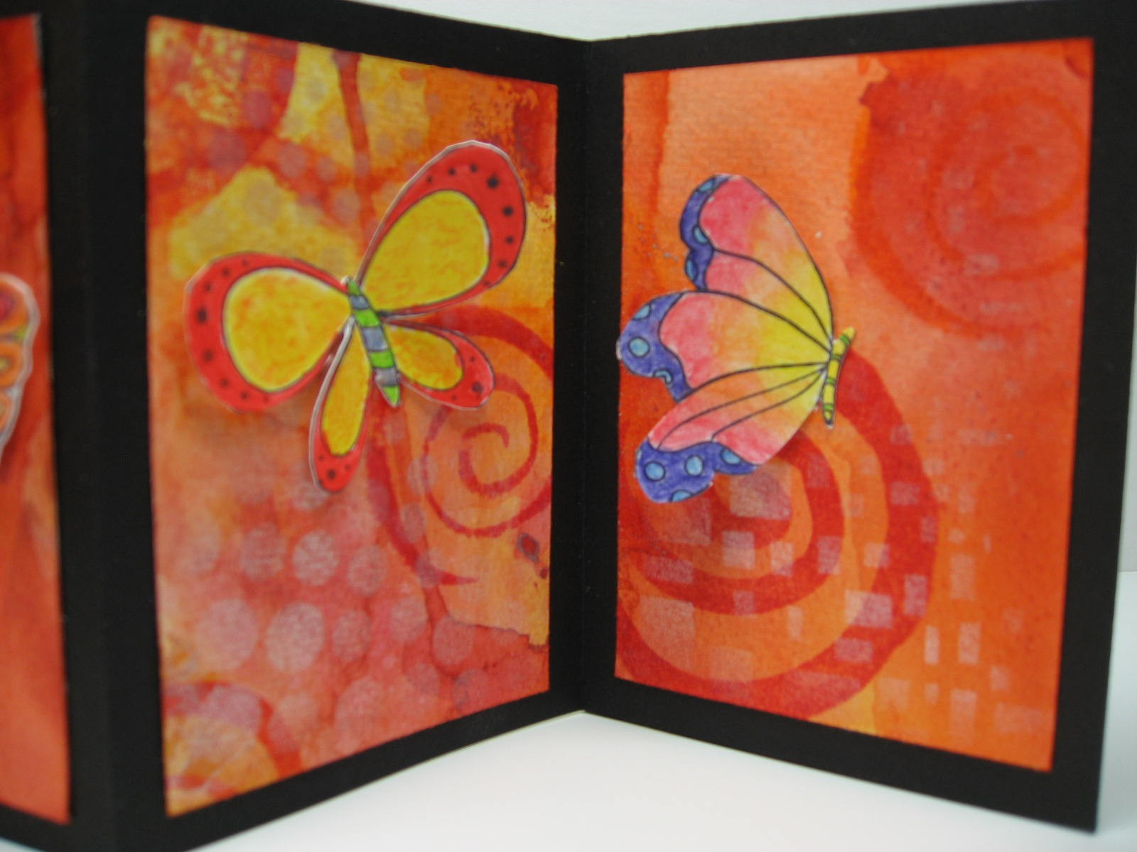 craft knife chronicles butterflies accordion book