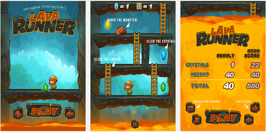 Lava Runner - Game Android Petualangan
