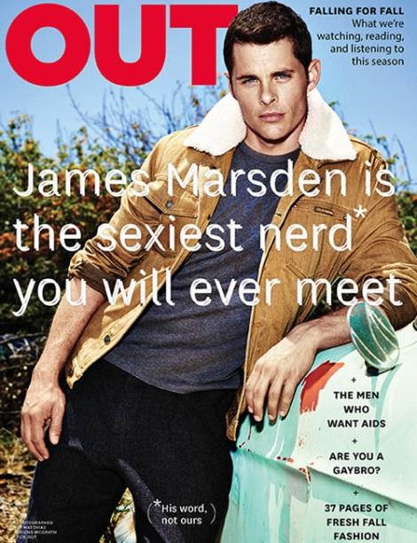 James Marsden OUT Magazine September Cover
