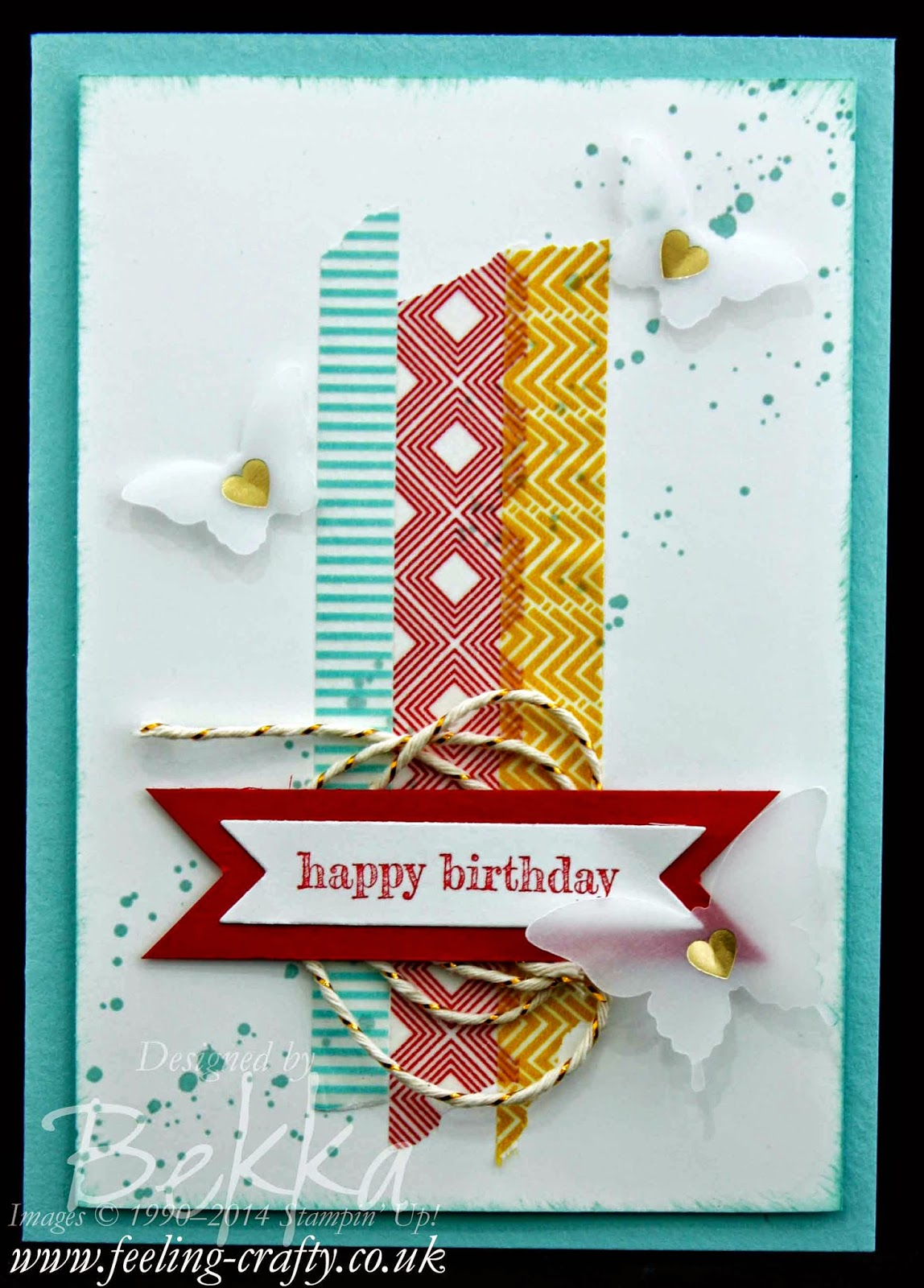 Beach House Washi Birthday Card using Stampin' Up! UK Supplies