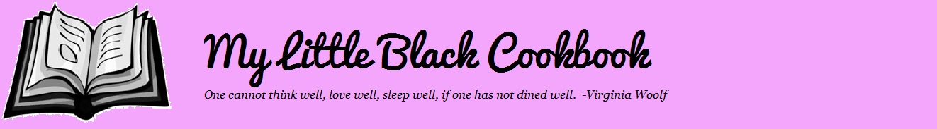 My Little Black Cookbook