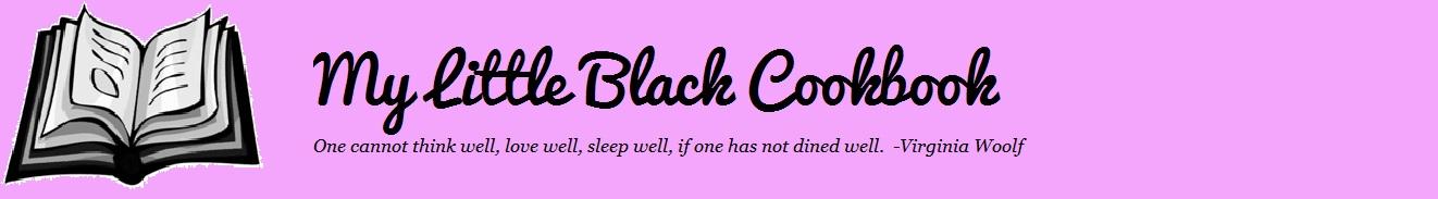 My Little Black Cookbook