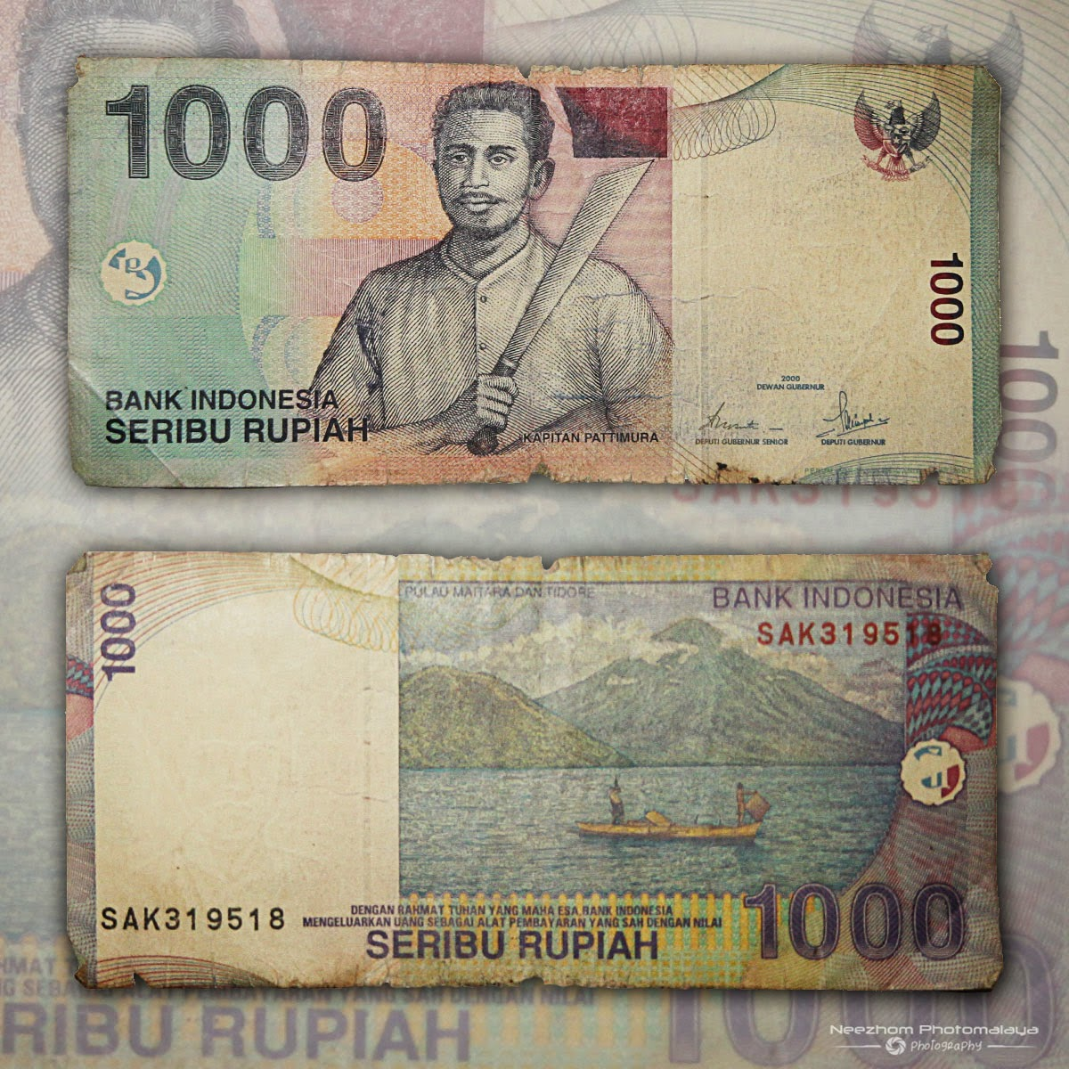 Seribu rupiah wang kertas Indonesia tahun 2000