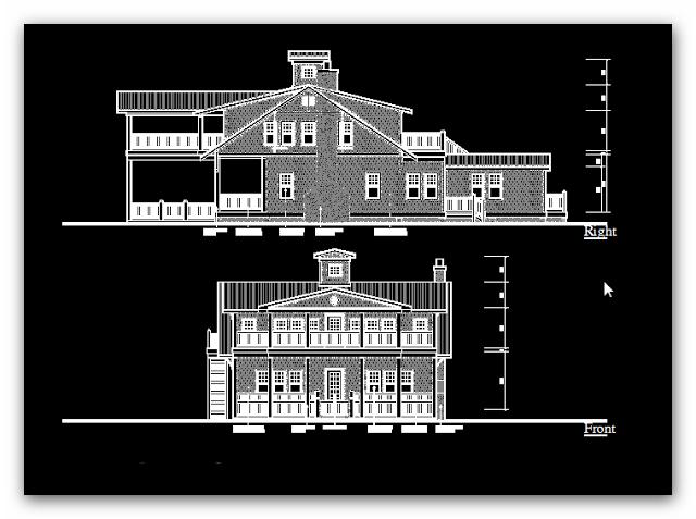 Engineering et architecture plan en d tails de villa de for Villa plan dwg