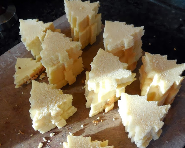 set aside cut pieces of poundcake #HolidayButter #shop #cbias