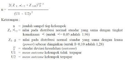Rumus Sampel Case Control dan Kohort 2