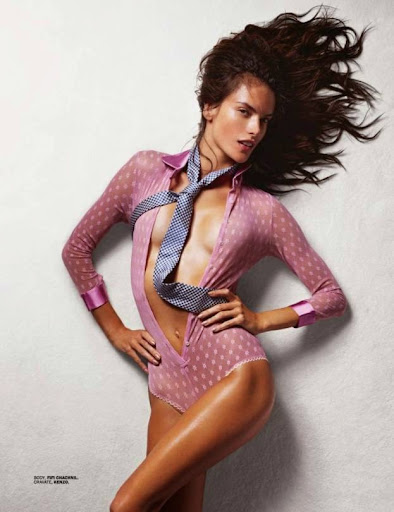 Alessandra Ambrosio almost naked in Lui magazine November 2014