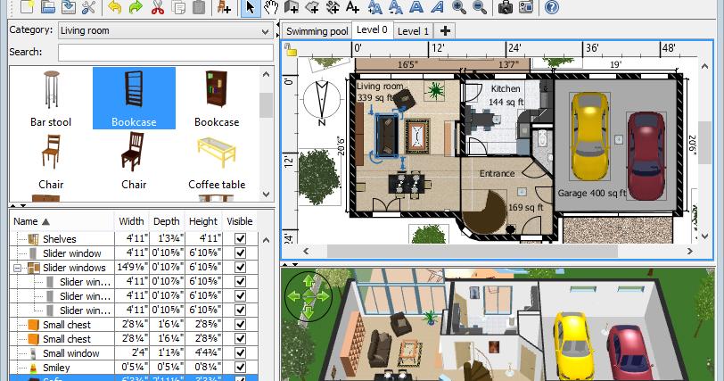 download sweet home 3d. Black Bedroom Furniture Sets. Home Design Ideas