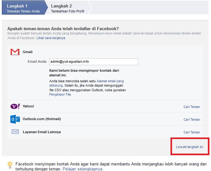 Cara Membuat Facebook | www.yuli-agustiani.info