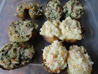 Twice Baked Filled Jacket Potatoes