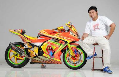 Modified Pelek Jari-Jari Di Ninja 250R , Ninja RR PJM Protehnics LJM Racing Team , Modif Kawasaki Ninja 250R ninja RR modifikasi