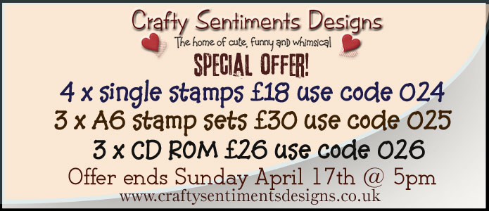 Crafty Sentiments Special Offer