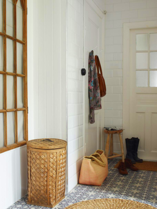 A+Beautiful+Bazaar+Home+Hallway Craft Storage and Eclectic Interior Style