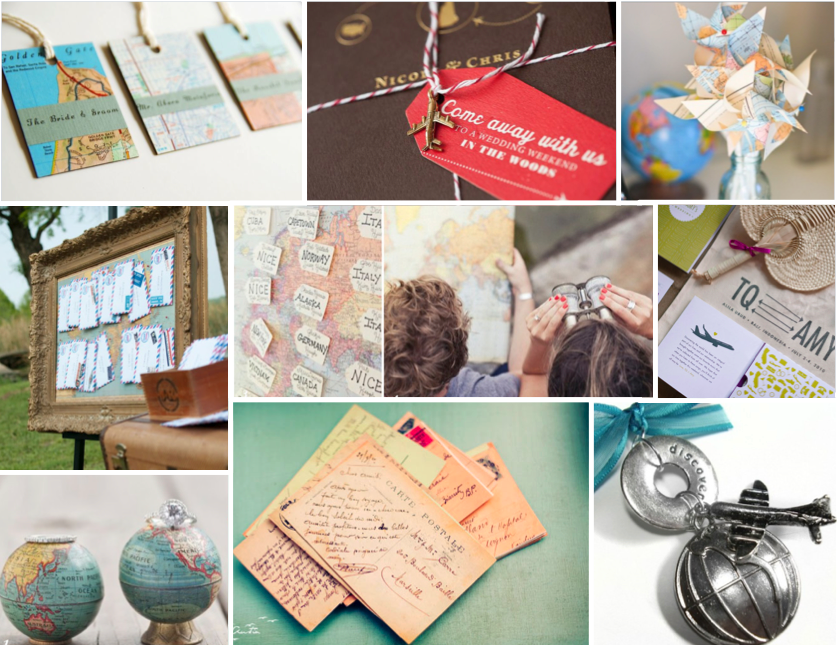 De lovely affair inspiration board travel themed for International theme decor
