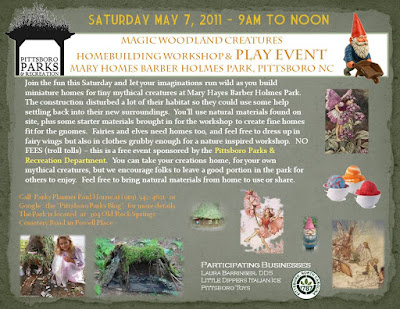 Gnome Home Workshop & Playdate – May 7, 2011