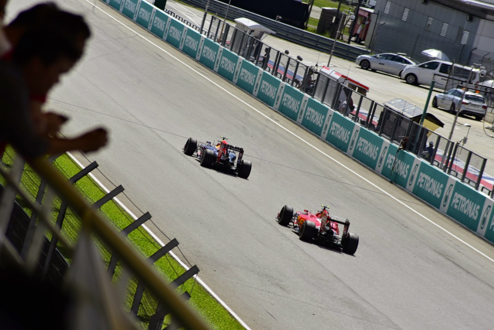 Ferrari and Red Bull F1 pictures