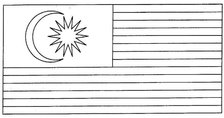 jalur gemilang colouring pages