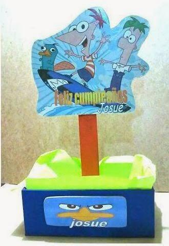 Centros de Mesa con Phineas y Ferb, parte 1