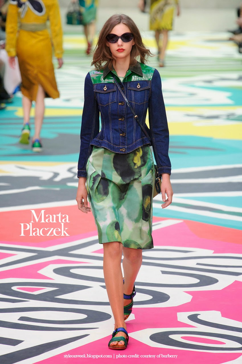 Marta Placzek at Burberry Prorsum Womenswear Spring-Summer 2015 Collection Look