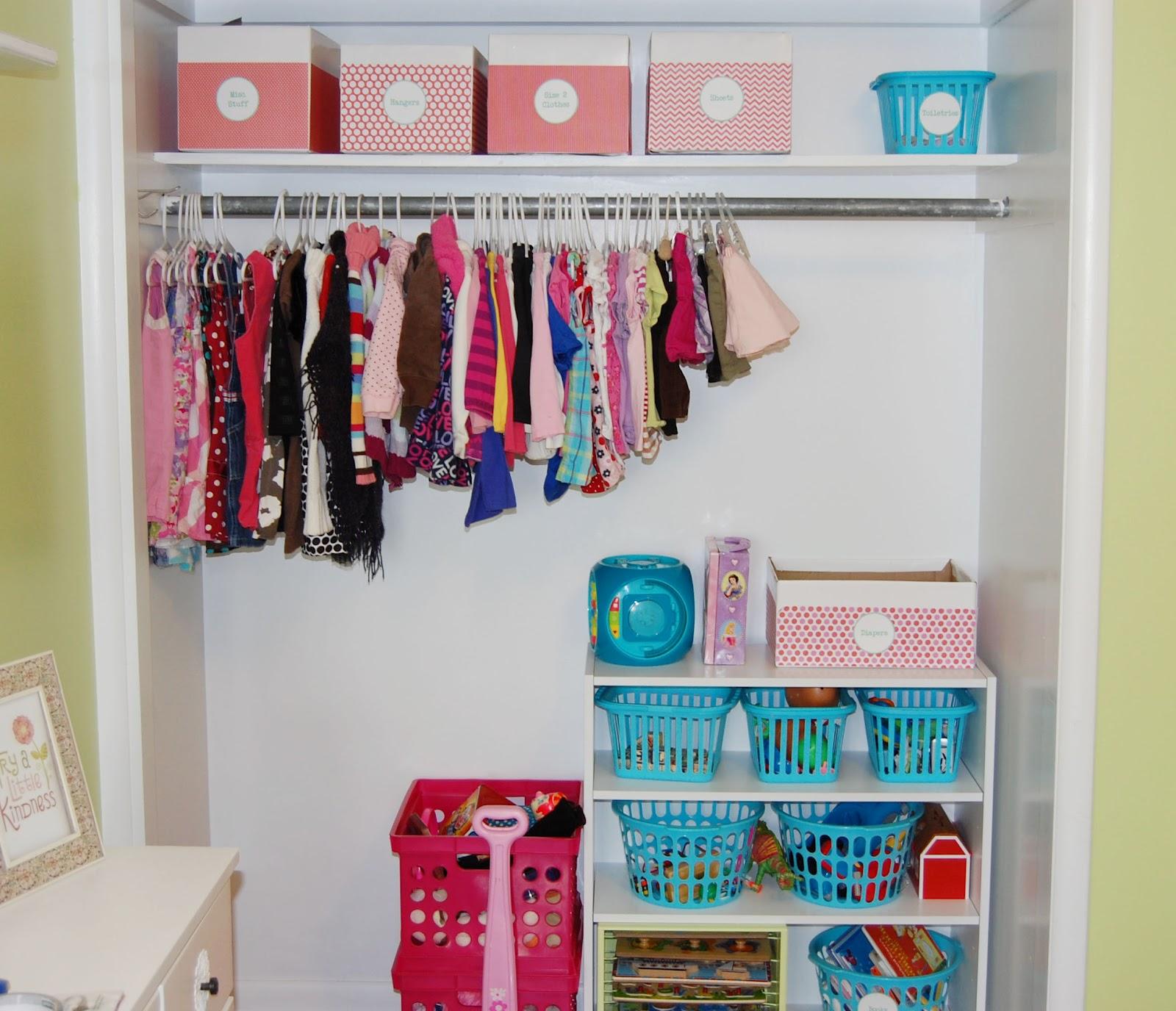 Charming Toddler Closet Organization