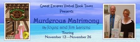 GUEST POST, REVIEW, and GIVEAWAY: Murderous Matrimony, by Joyce and Jim Lavene