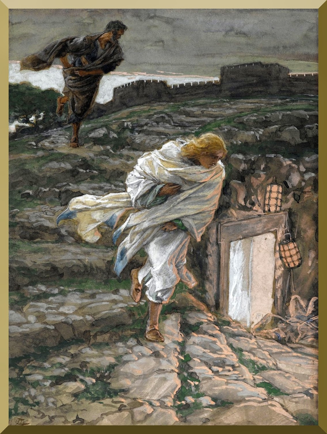 """Saint Peter and Saint John Run to the Sepulchre"" -- by James Tissot.jpg"
