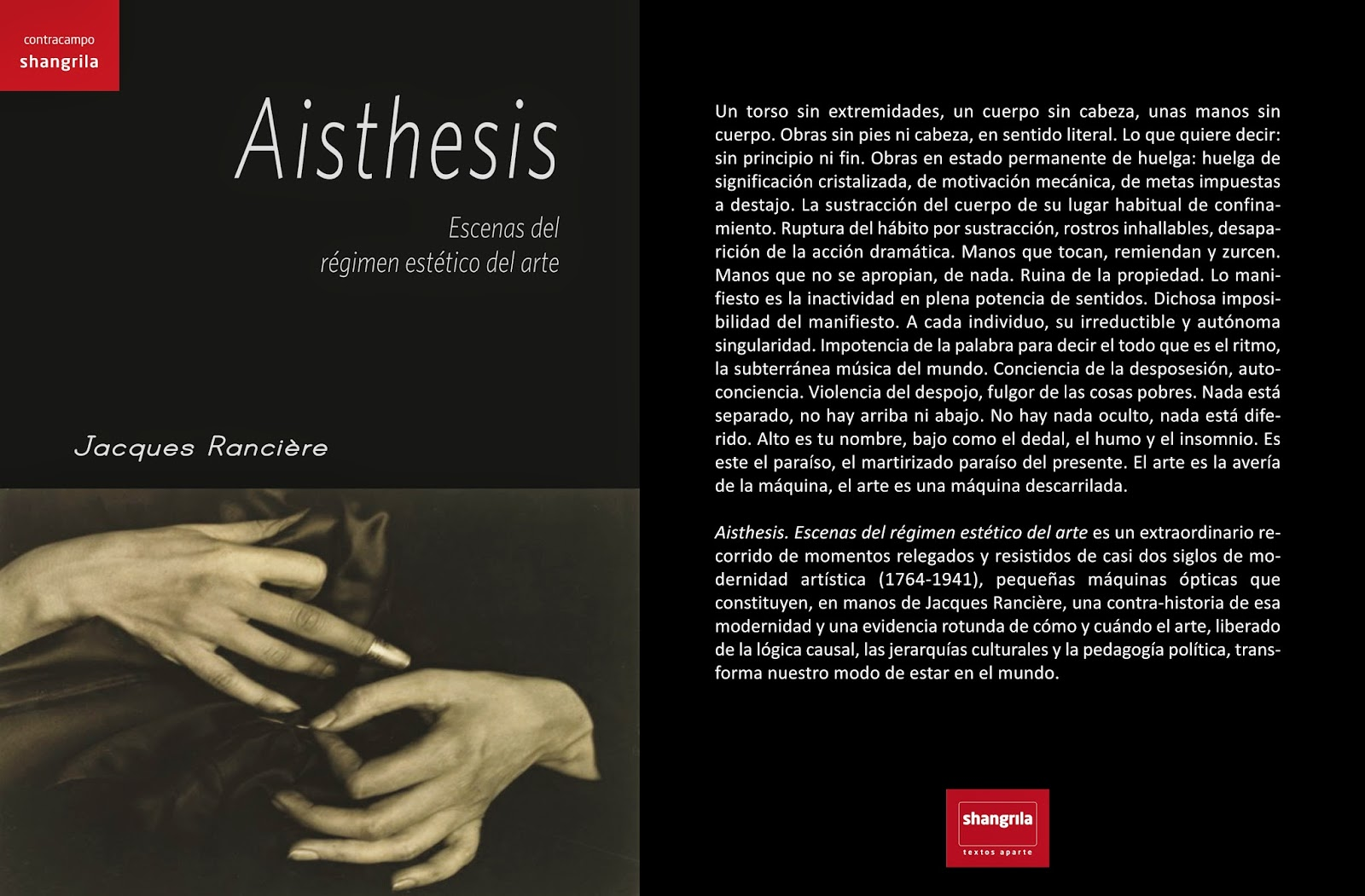 ranciere aisthesis galilee