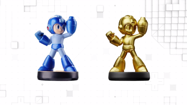 Gold Golden Mega Man amiibo