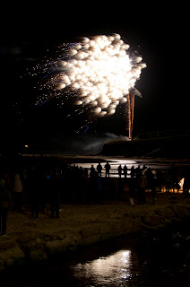 Firework display Newquay Cornwall