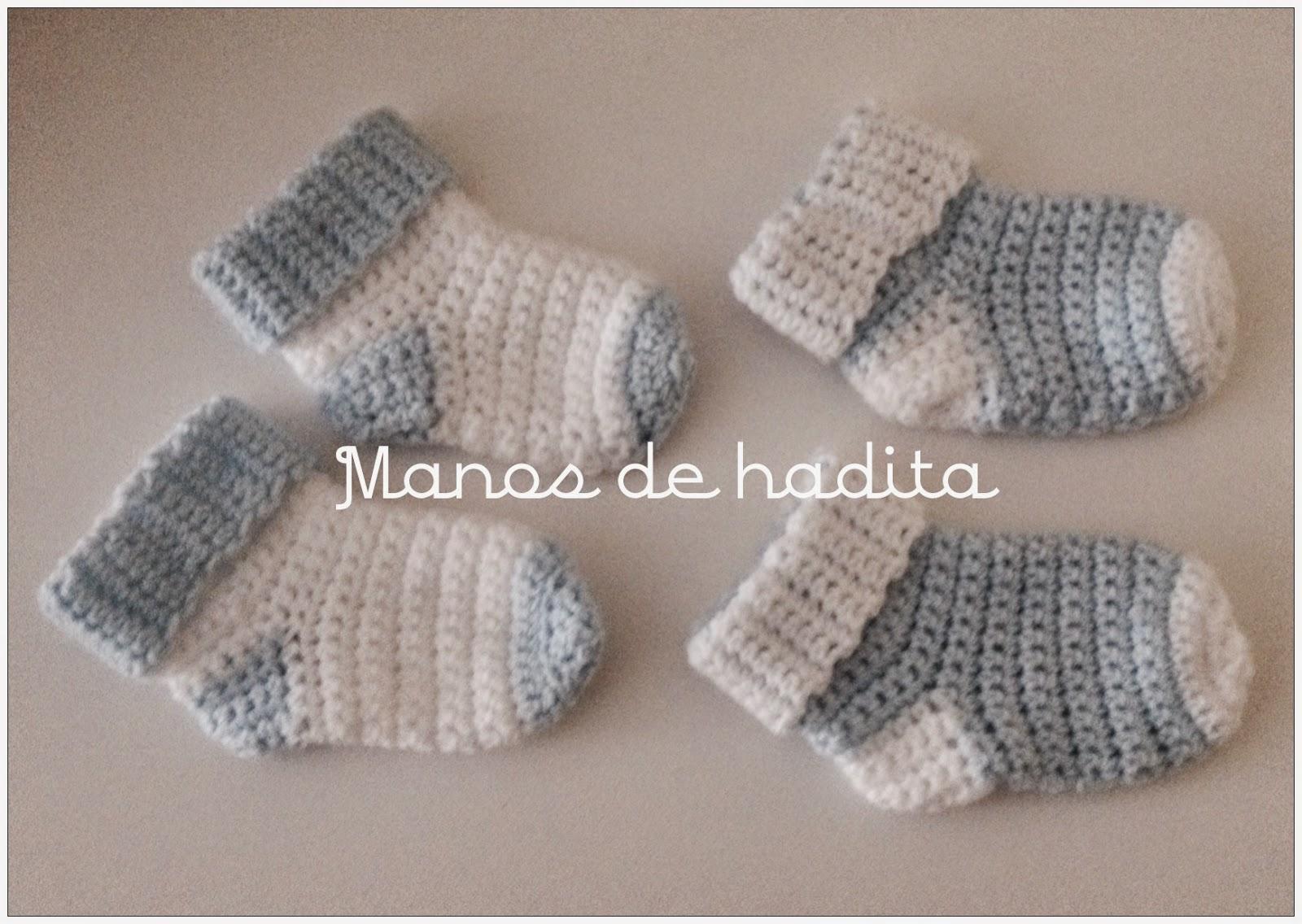 Manos de hadita: Calcetines de bebé a crochet