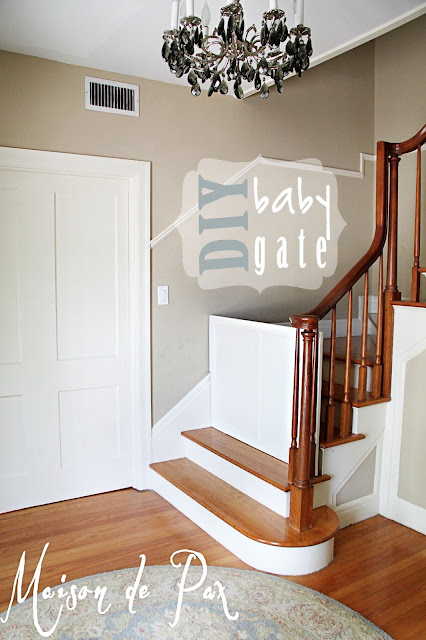 DIY Baby Gate in Colonial Home