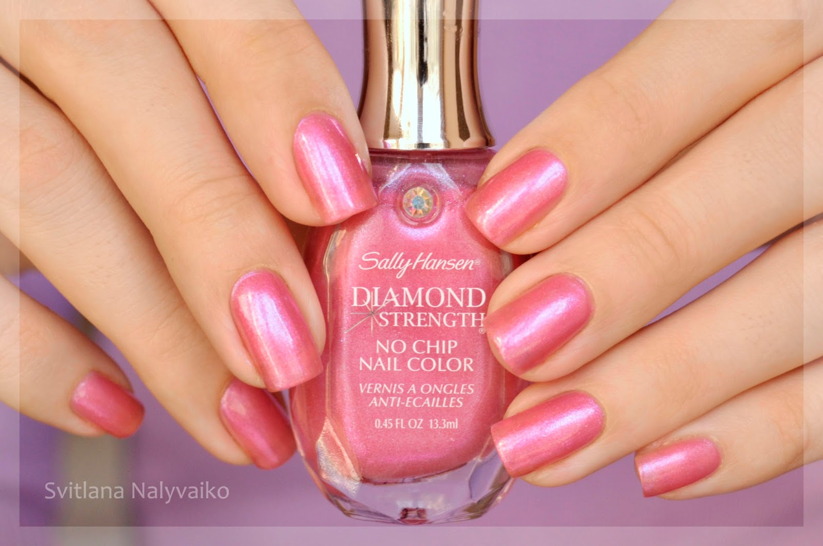 свотч Sally Hansen Dimond Strength в оттенке 320 Must-Have Iris swatch