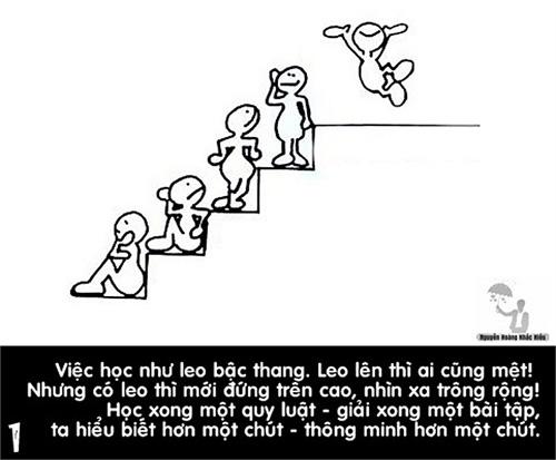Bộ ảnh khuyên răn học tập của thầy Nguyễn Hoàng Khắc Hiếu
