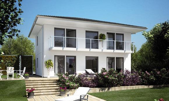 La costruzione della nostra casa prefabbricata schwoerer for Haus walmdach modern