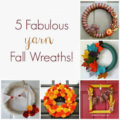 5 Fabulous Fall Yarn Wreaths from It's Always Ruetten