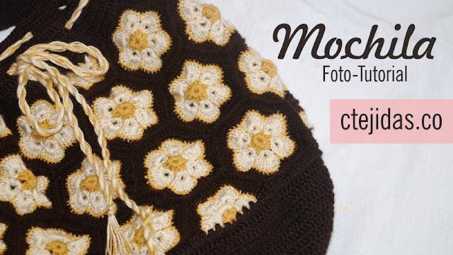 Mochila con Flores Africana - Paso a Paso