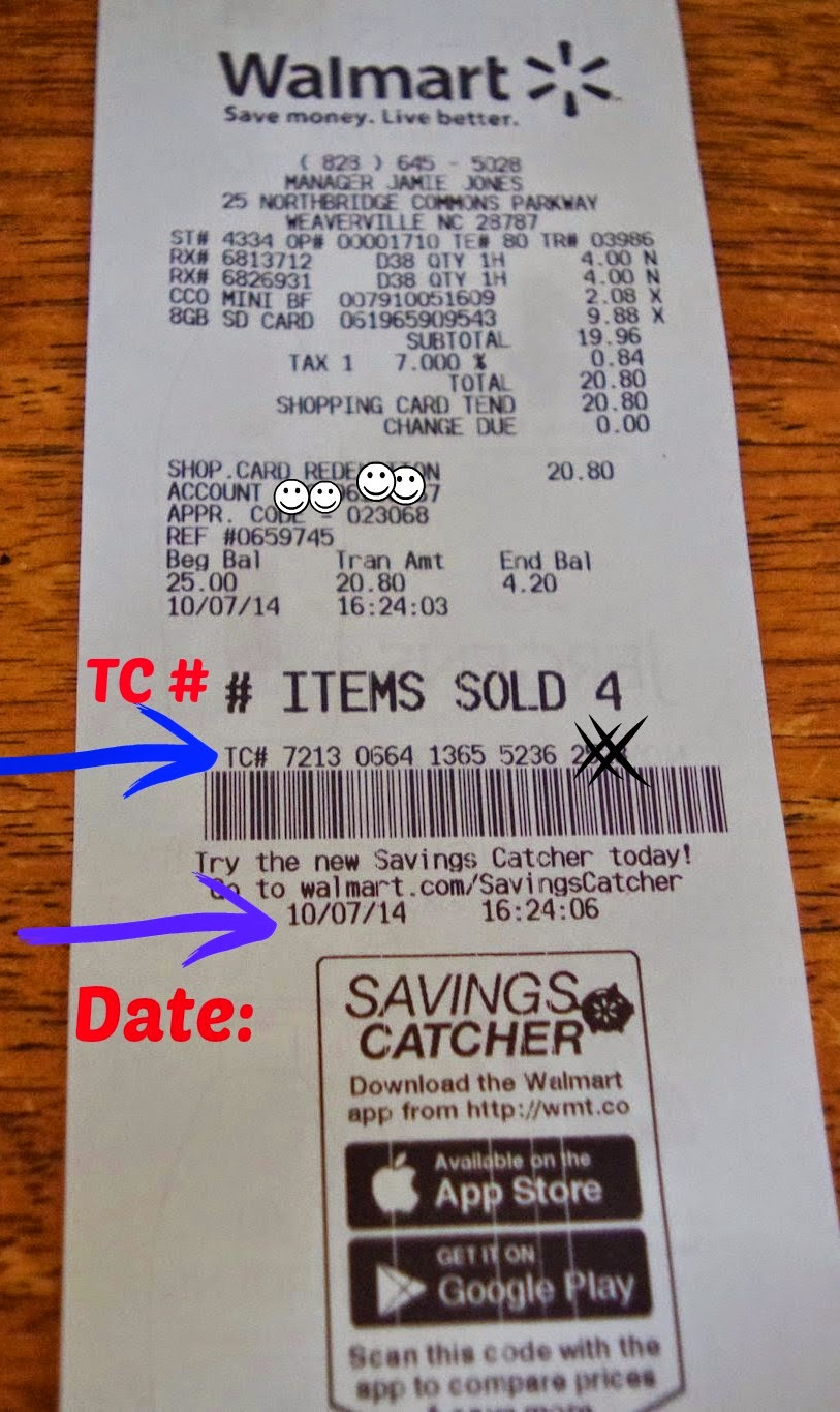 How to get my win number from walmart - This Receipt Shows You Where The Tc Is Located And The Date You Will Need This Information From Your Walmart Receipt To Enter Into Savings Catcher